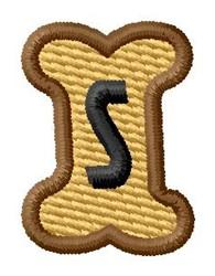 Doggie Letter S embroidery design