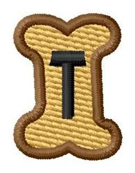 Doggie Letter T embroidery design