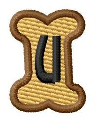 Doggie Letter U embroidery design