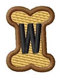 Doggie Letter W embroidery design