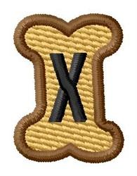 Doggie Letter X embroidery design