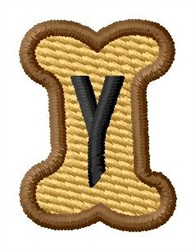 Doggie Letter Y embroidery design