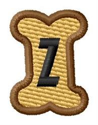 Doggie Letter Z embroidery design