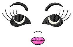 Woman Doll Face embroidery design