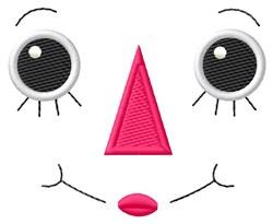Rag Doll Ann Face embroidery design
