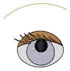 Eye and Eyebrow embroidery design