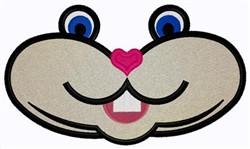 Gopher Face embroidery design