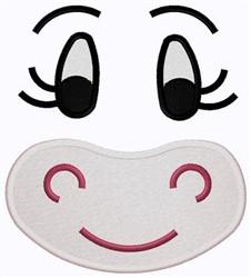 Hippo Face embroidery design