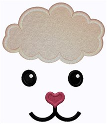 Lamb Face embroidery design