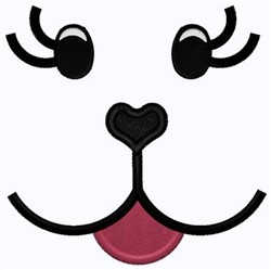 Puppy Face embroidery design