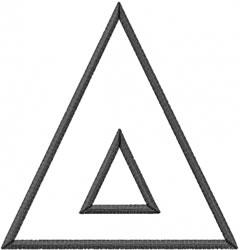 Toga Outline Delta embroidery design