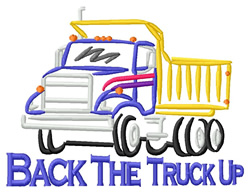 Back the Truck Up embroidery design