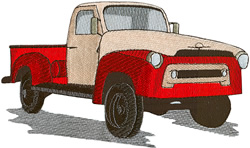 Old Pickup Truck embroidery design