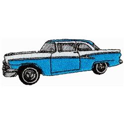 Classic Car embroidery design