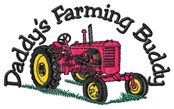 Daddys Farming Buddy embroidery design