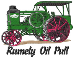 Rumely Oil Pull Tractor embroidery design