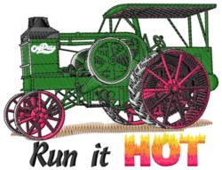 Run It Hot embroidery design