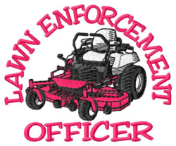 Lawn Officer embroidery design