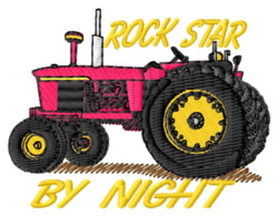 Rock Star Tractor embroidery design