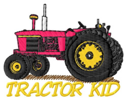 Tractor Kid embroidery design