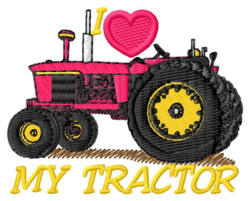 I Love My Tractor embroidery design