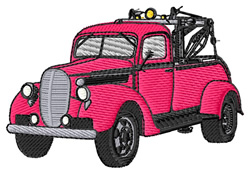 Old Tow Truck embroidery design