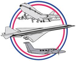 Airplane Logo embroidery design