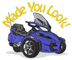Made You Look embroidery design
