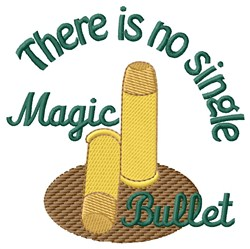 Magic Bullet embroidery design