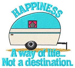 Happiness embroidery design