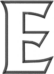 Toga Outline Epsilon embroidery design