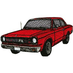 Classic Coupe embroidery design