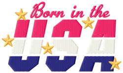 Born in the USA embroidery design