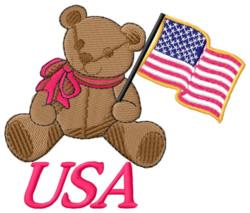 USA Bear embroidery design