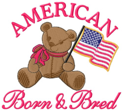American Born and Bred embroidery design