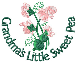 Grandmas Little Sweet Pea embroidery design