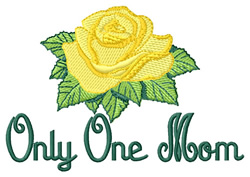 Only One Mom embroidery design