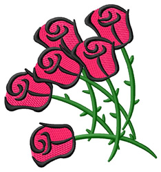 Abstract Roses embroidery design