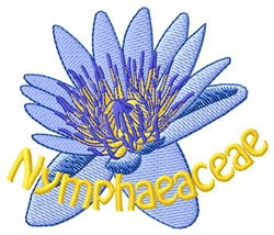 Nymphaeaceae embroidery design