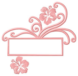 Floral Drop embroidery design