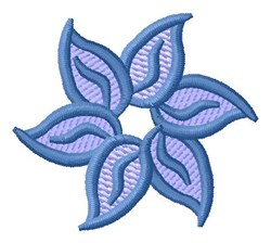 Blue Flower embroidery design