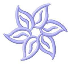 Blue Flower Outline embroidery design