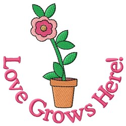 Flowers Bring Happiness embroidery design