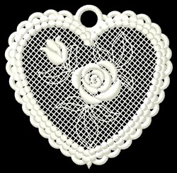 FSL Heart Free Standing Lace embroidery design