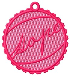Hope Ornament Free Standing Lace embroidery design