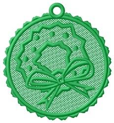 Wreath Ornament embroidery design