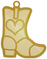 Boot Ornament embroidery design