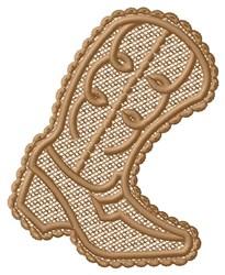 FSL Boot embroidery design