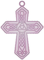 Cross Ornament embroidery design