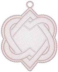 Celtic Heart Ornament embroidery design